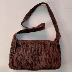 Beached Out Brown Woven Boho Small Hand Bag